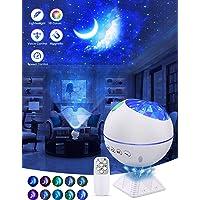 OTTOLIVES Mini LED étoile Projecteur Veilleuse, 120° Rotatif Télécommandées Galaxie D'éclairage Effets Nuage Lampe pour…