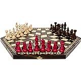 3 Drei Spieler Schachspiel - groß - RULES INKLUSIV