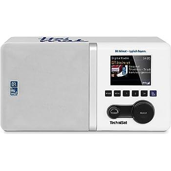 TechniSat DIGITRADIO 300 BR Heimat Edition Digital-Radio, DAB+, UKW, BR Heimat Direktwahltaste, Equalizer und integrierte Bassreflextube, Wecker, Sleeptimer, weiß
