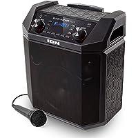 ION Audio Block Rocker Plus - Cassa Bluetooth Ricaricabile da 100 W con Microfono, Porta USB di Ricarica, Bass Boost e Ingresso Aux