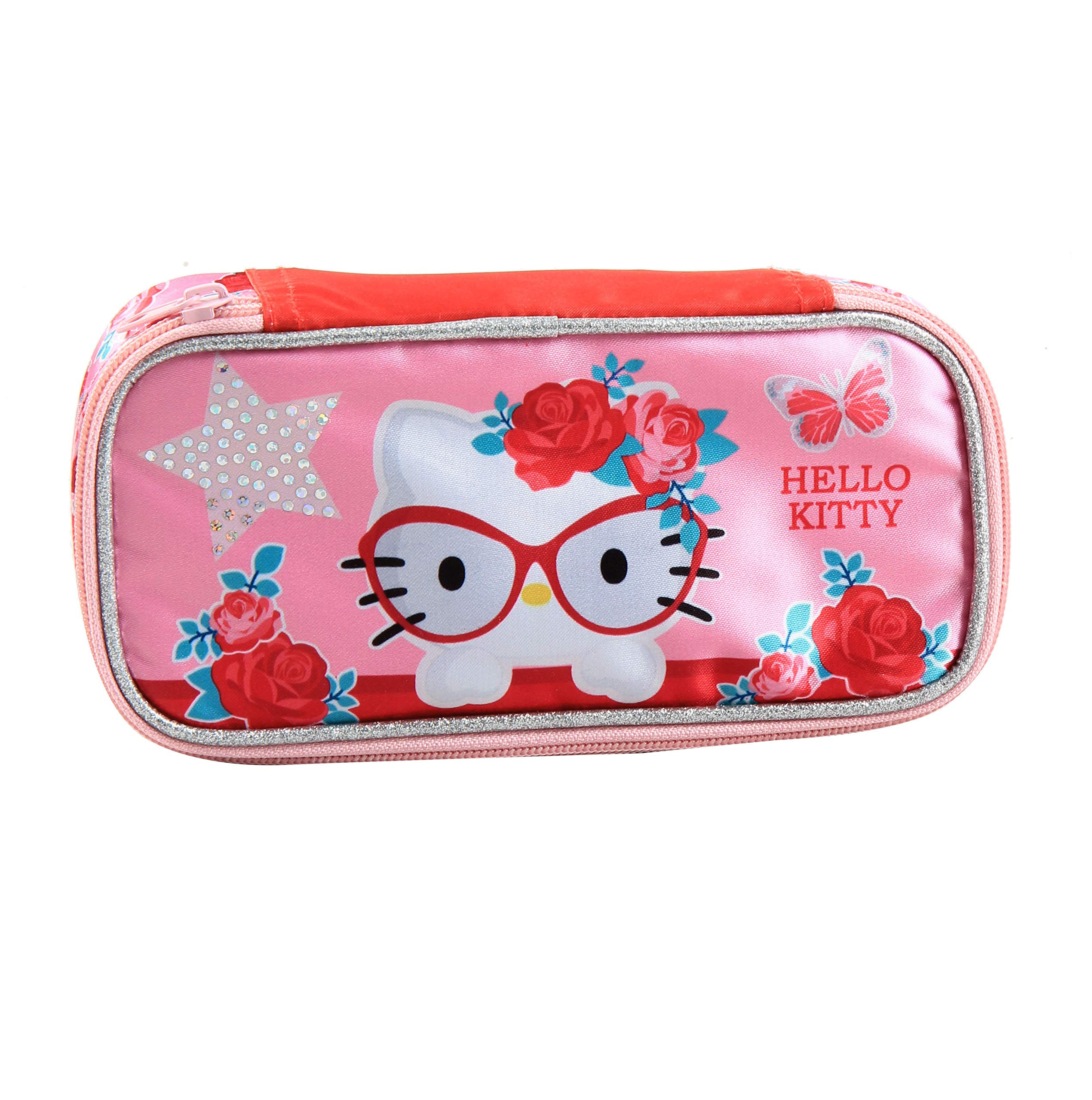 Jacob & Co. Pencilbox Hello Kitty – Estuche (21 cm), Color Rosa