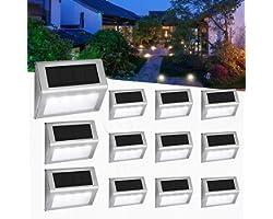 [12 paquets] Éclairage Extérieur Solaire Jardin 4 LED Easternstar, Lampe Solaire Imperméable, lumiere Extérieur Solaire sans