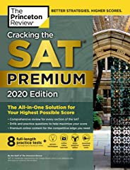 Cracking the SAT Premium Edition with 8 Practice Tests, 2020