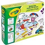 Crayola - Atelier de Stickers - Loisir créatif - Kits d'activités - à partir de 4 ans - Jeu de coloriage et dessin