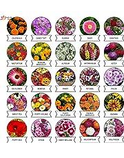Kraft Seeds Varieties of Summer Flower Seeds (Multicolour, Pack of 25)
