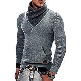 Indicode Uomo Dane Pullover Invernale A Maglia Grezza con Colletto Sciallato | Caldo Moderno Marchio Hoddie Maglione Comodo i