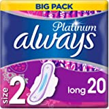 Always Platinum Long (Size 2) Sanitary Towels Wings 80 Pads, Always Ultra's Best Comfort & Protection