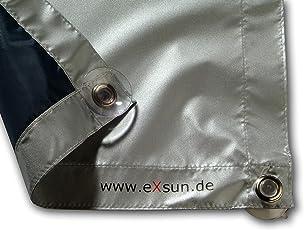 Seefrau Sonnenschutz für Velux & Roto Dachfenster | Ohne Bohren mit Saugnäpfen *KraftHaftSauger Made in Germany!* | Hitzeschutz | Rollo | eXsun | Braas | Fakro | Verdunkelungsrollo