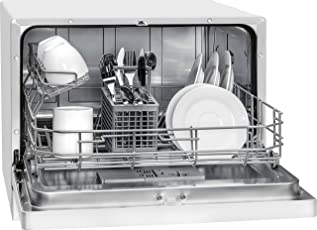 Bomann TSG 707 Tischgeschirrspüler / A+ / 6 Maßgedecke / Elektronische Programmsteuerung / klappbare Gläser- und Tellerhalter / weiß