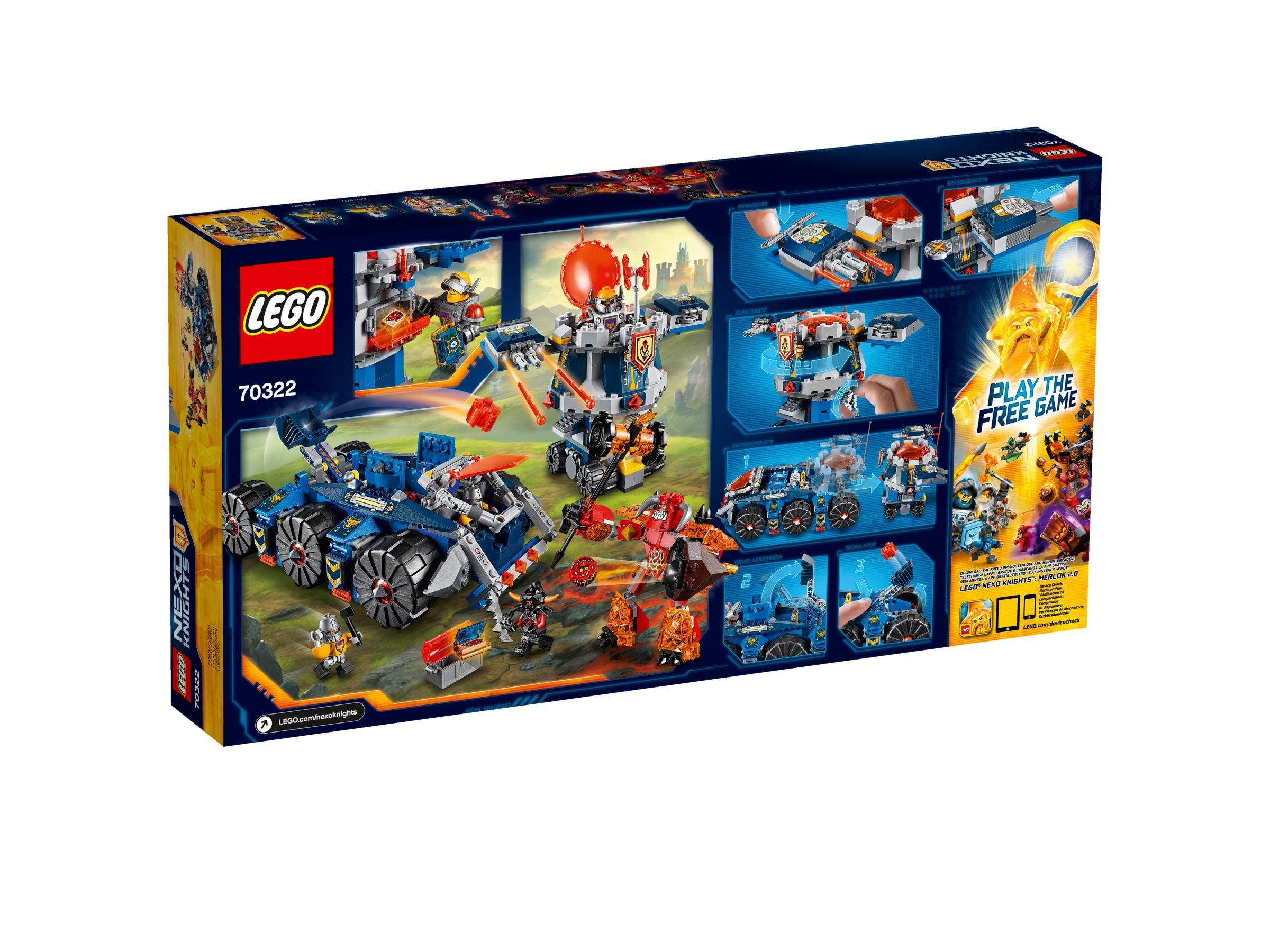 LEGO Nexo Knights Porta Torre di Axl Costruzioni Gioco Bambina Giocattolo, Colore Vari, 70322 2 spesavip