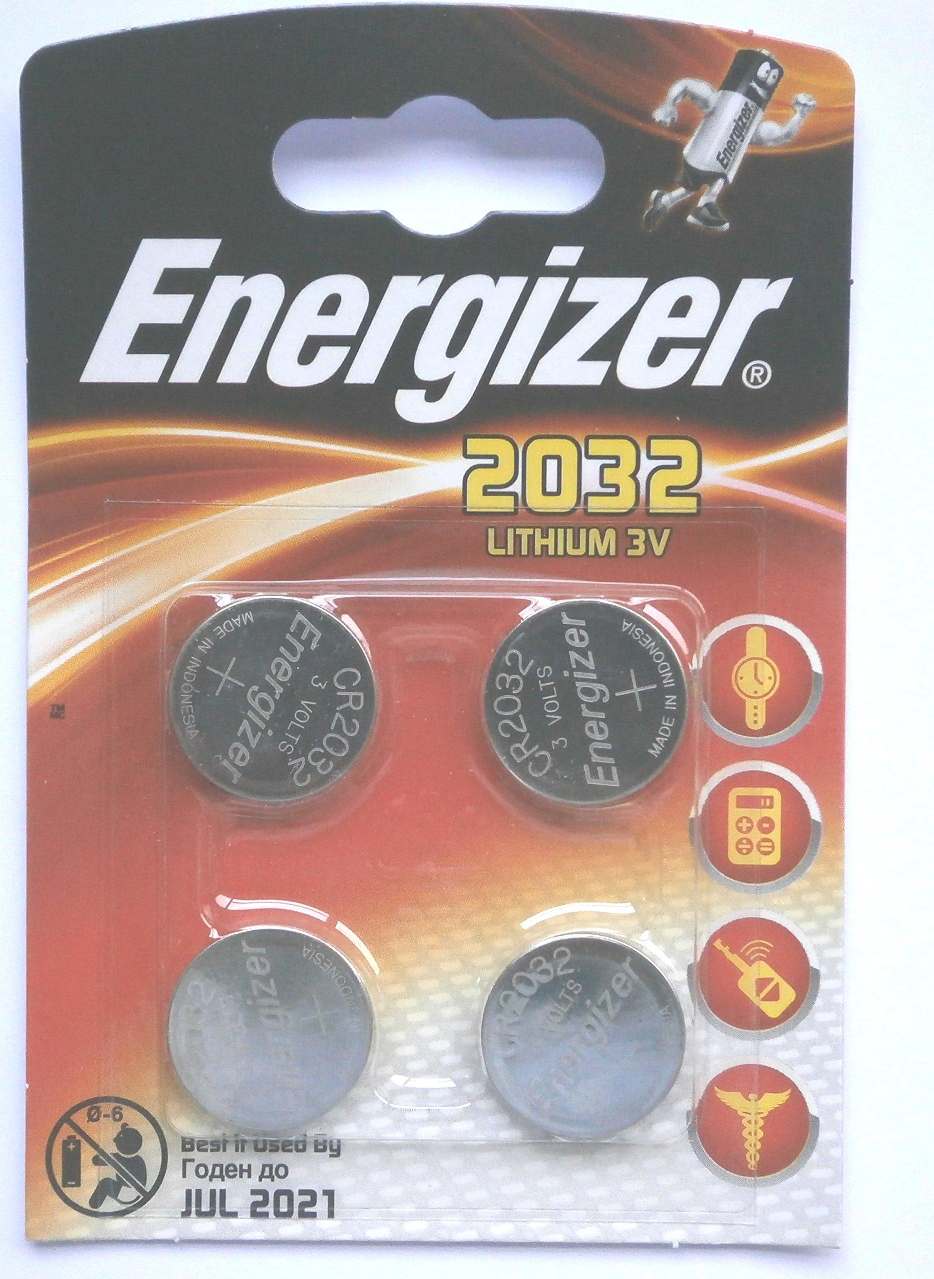 Energizer–Batteria al Litio CR2032(Confezione da 4)