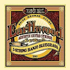 Ernie Ball 2063 Earthwood 5-string Banjo 80/20 Bronze Loop End Bluegrass Set (09 - 20)