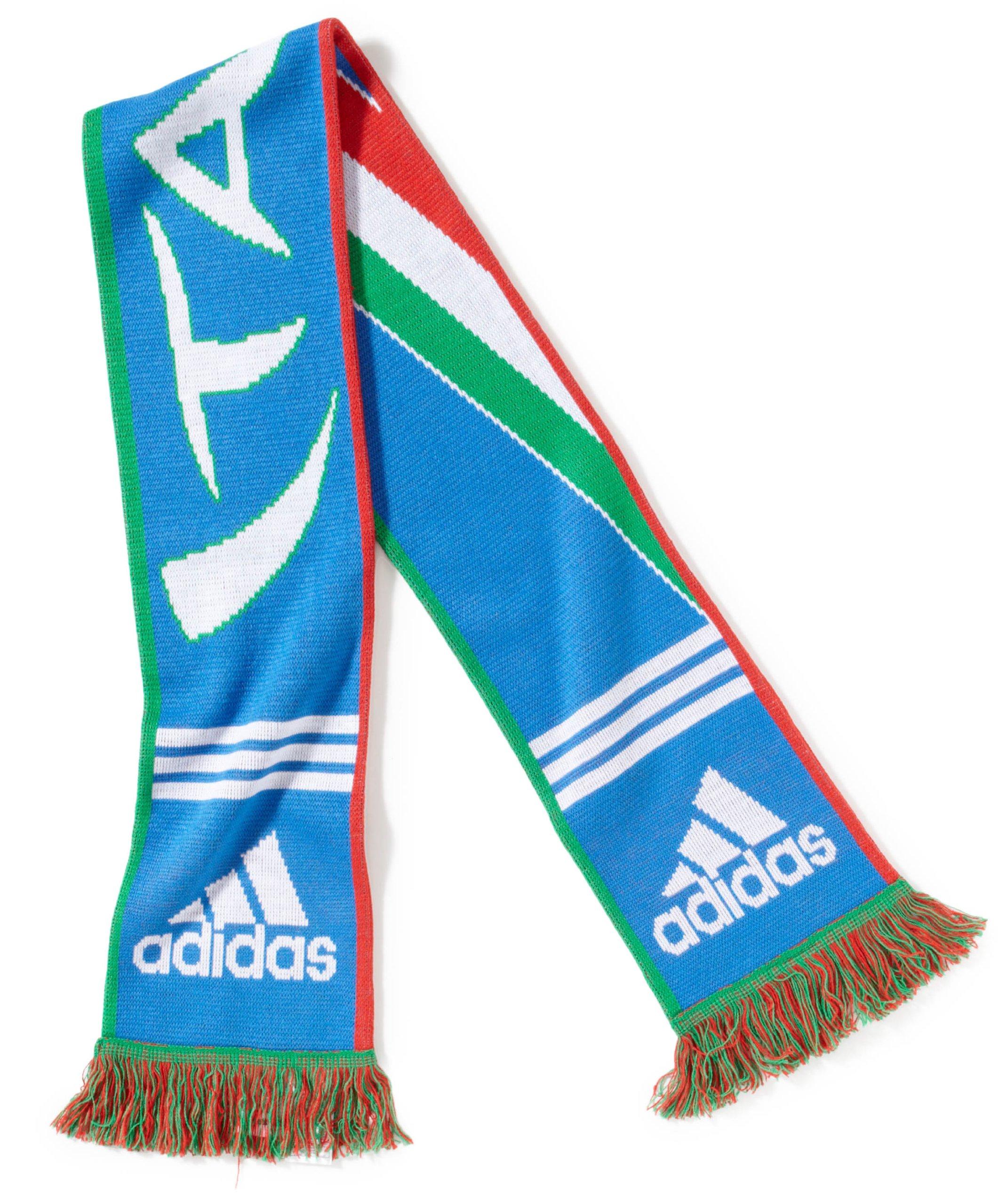 adidas X33597 - Sciarpa CF Italia, misura unica, colore: Blu aereo/Bianco/Rosso