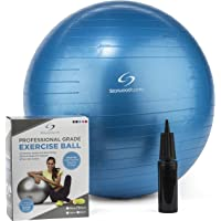 Starwood Sports Exercise Ball – 65 cm or 75 cm Yoga Swiss Ball with Hand Pump – Gym Quality Fitness Ball for Women and…