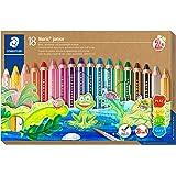 STAEDTLER Noris junior 3-i-1 färgpenna paket med 18 blandade färger + vässare