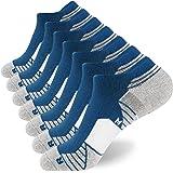 WANDER Men's Athletic Running Socks 6 Pairs Thick Cushion Ankle Socks for Men Sport Low Cut Socks