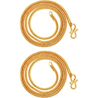 AanyaCentric Gold Plated Long Necklace Fashion Fancy Jewellery Collection Neck Chain for Men Women Girls Boys