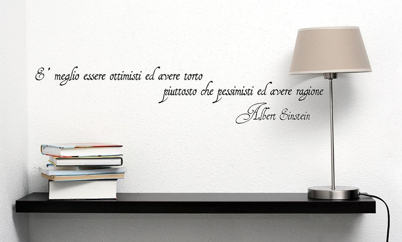 Adesiviamo Albert Einstein L Adesivo Murale, PVC, Nero, 180 x 36 ...