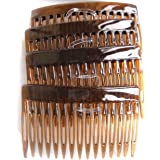 7 Centimeter Side Combs Hair Combs Pack of 4 Tortoiseshell