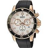 Edox Orologio Cronografo Quarzo Uomo con Cinturino in Gomma 10227-37RCA-ABR