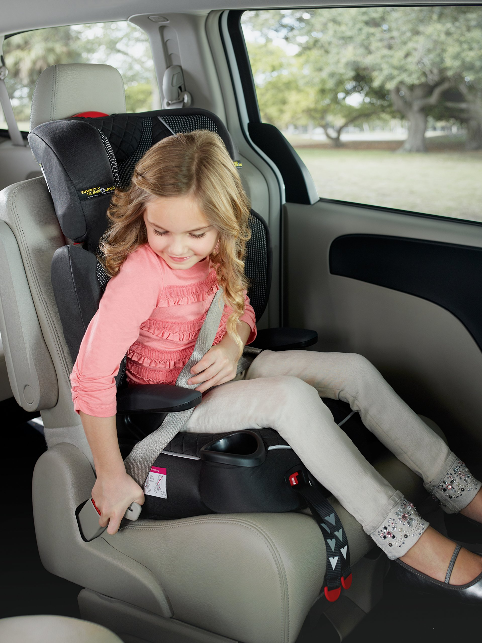 Graco Affix Highback Booster Group 2/3, Stargazer Graco One-hand ISOcatch connectors secure the car seat in place,One-hand, adjustable headrest for ease-of-use For children 3 to 10 years old Highback Mode Weight: 30-100 lb Height: 38-57 inches Backless Mode Weight: 40-100 lb Height: 40-57 inches STOP using this car seat and throw it away 10 years after the date of manufacture. Side impact protection built into both the side wings 4