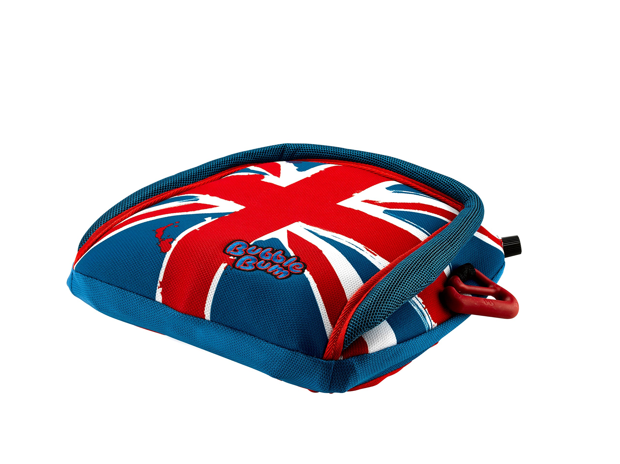 """BubbleBum Travel Car Booster Seat, Group 2/3, Union Jack Bubblebum The world's first inflatable & packable, portable & safe car booster seat for children aged 4 - 11, 15 - 36kg - the globally award-winning child safety booster seat Approved to the EU Safety Standard R44.04 for both Groups 2 and 3 Narrow, light and foldable design makes this perfect for travel, taxis, car rental, car sharing and tight """"three across"""" fits 1"""