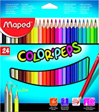 Maped Color Pencil Box - Pack of 24 (Multicolor)