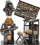 BRUBAKER Porte-bouteille de Bière décoratif - Sculpture en Métal - Idée cadeau - Bûcheron