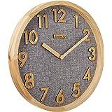 JIYUERLTD 12 Pouces Horloge Cuisine Pendule murales Silence sans tiques Horloge Murale à Quartz,Bois Horloge pour Accueil Bur