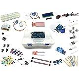 """Lernset für Arduino - """"MEGA 8"""" mit MEGA2560 R3, Grundausstattung + Relais +IR-FB +Feuchtigkeitssensoren +Schrittmotor +RFID + Deutsche Anleitung - Funduino Kit """"M3FTMR"""""""