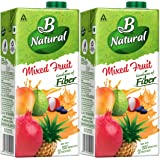 B Natural Mixed Fruit Juice, 1L (Pack of 2)