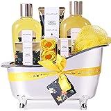 Spa Luxetique Coffret de Soins pour Femme, 8PC Parfum tropical, Sels de Bain, Bain Moussant, Cadeau des Fêtes