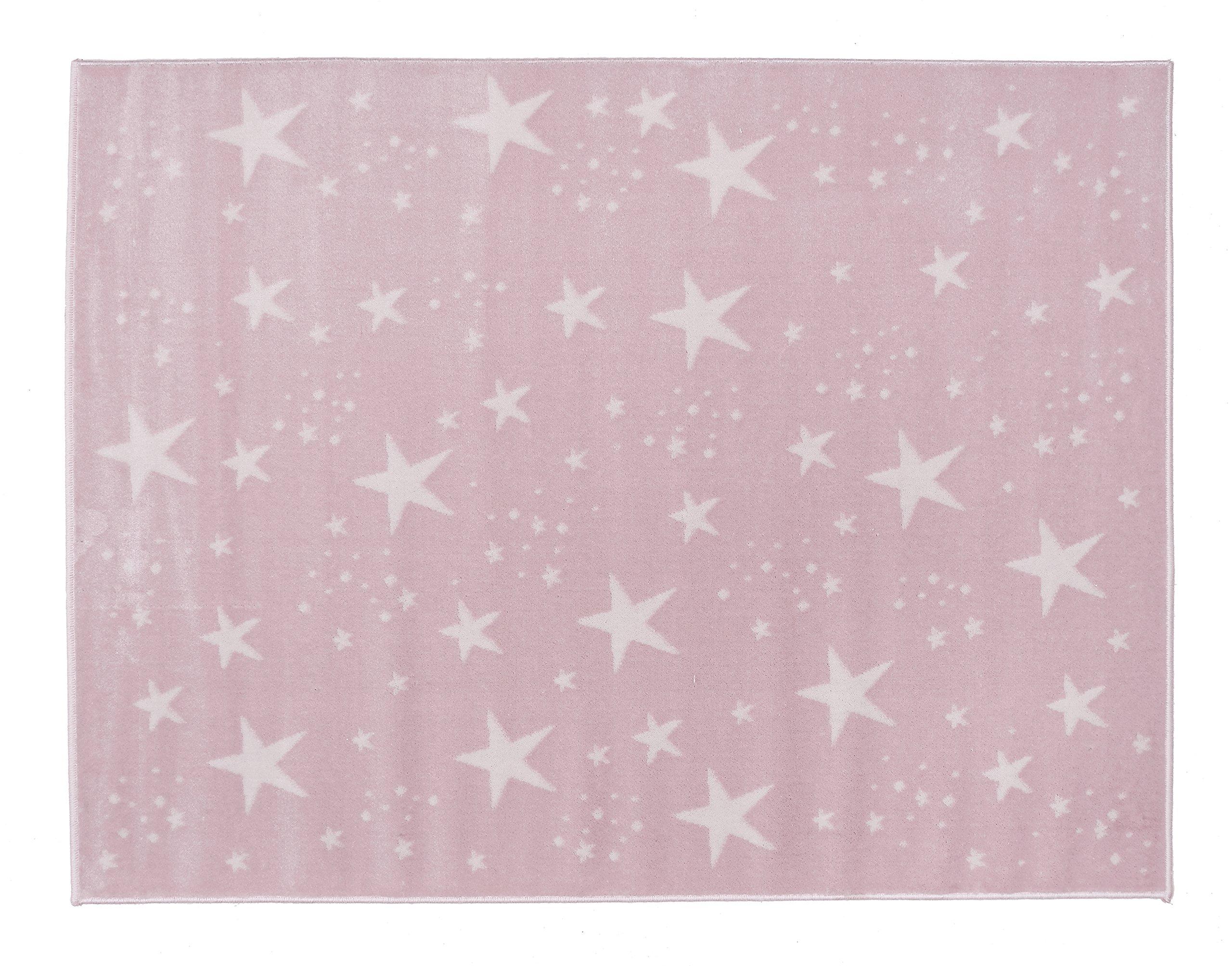 Aratextil. Bambini Tappeto 100% Acrilico. Coleccion Cielo Rosa 140x200 cms
