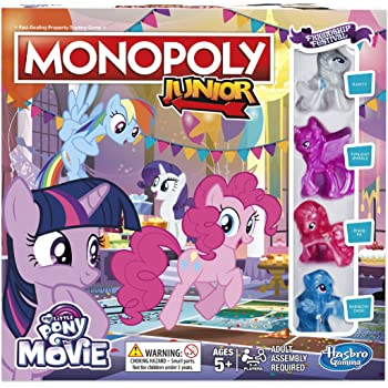 4294211af55 Hasbro Gaming Monopoly Junior My Little Pony Friendship is Magic ...