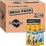 Pedigree Dentastix - Friandises pour moyen chien, 112 bâtonnets à mâcher pour l'hygiène bucco-dentaire (16 sachets de 7 Stick