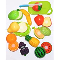 Reckonon Realistic Sliceable Multi Color Fruits Cutting Play Toy Set 10 Pieses