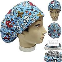 Cappello sala operatoria VALIGETTA MEDICA KIT DI PRONTO SOCCORSO capelli lunghi assorbente fronte eregolabile medico…