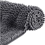 NICETOWN Tapis de Bain Antidérapant Absorbant, Microfibre de Chenille Doux pour Baignoire Toilettes Lavable en Machine Petit