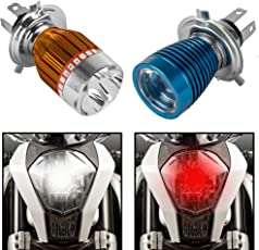 Autofy Universal LED Headlight For All Bikes (Blue or Golden/Any 1)