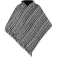 virblatt - poncho uomo | 100 % cotone | poncho coperta poncho pile |double face| mantello con cappuccio poncho messicano