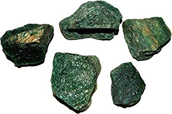 R.R. SHEIKH GEMS 200+ GM Natural Green Aventurine Rough Healing Crystal Gemstone Stone Specimen Raw Rock 200 Grams Lot (Set of 2-4 Stones, Approx. 200+ GM)