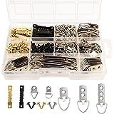 Belle Vous Foto Ophang Kit (415 Pak) Zware Kwaliteit Zaagtand Materiaal, Geassorteerde D-Ring Hangers & Bevestigingsschroeven