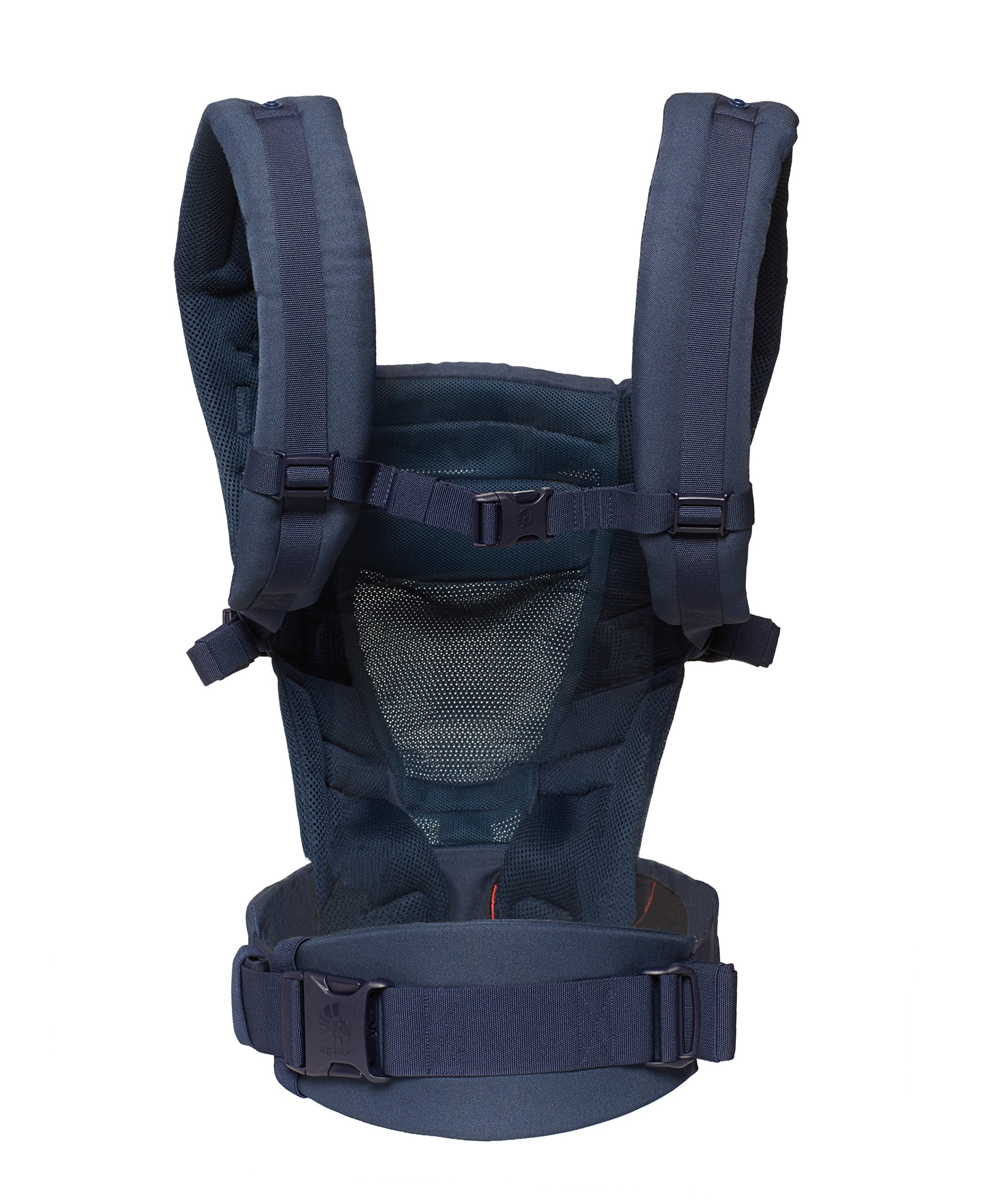 Ergobaby Baby Carrier for Newborn to Toddler up to 20kg, Adapt 3-Position Cool Air Mesh, Deep Blue Ergobaby Ergonomic bucket seat gradually adjusts to a growing baby from newborn to toddler (3.2 -20kg) No infant insert required 3 ergonomic carry positions: front-inward, hip and back 3