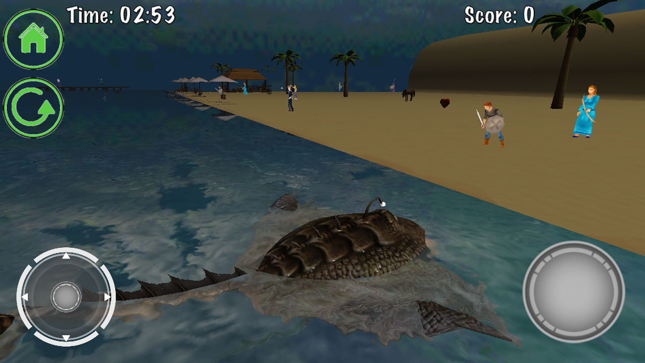 Sea monster simulator 3d appstore for android for Simulatore 3d
