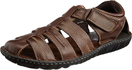 Hush Puppies Menu0027s Leather Athletic U0026 Outdoor Sandals