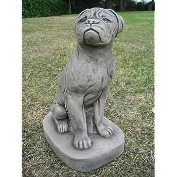 Boxer Dog Stone Garden Ornament