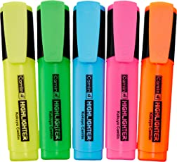 Camlin Kokuyo Office Highlighter - Pack of 5 Assorted Colors