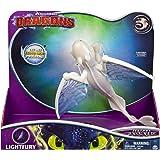 Dragons 6052264 - Movie Line - Deluxe Dragons - Lightfury (Solid) mit Licht - und Soundeffekten, Actionfigur, Drachenzähmen leicht gemacht 3, Die geheime Welt