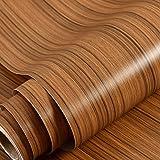 Wolpin Wall Stickers Furniture Wallpaper Wood (45 x 300 cm) Door, DIY Vinyl, Almirah, Shelf Liner, Revamp Desk Table Top, War