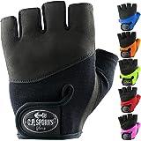 Fitness-Handschuhe Krafttraining /& Bodybuilding C.P.Sports Trainings-Handschuh Leder F1